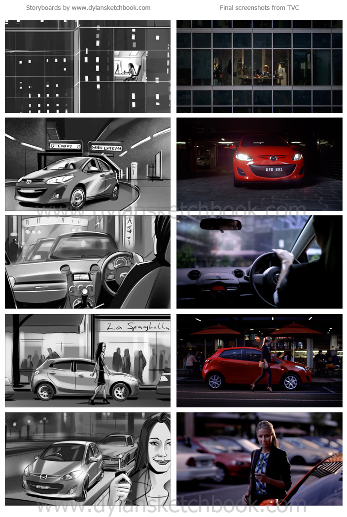 Mazda 2 TVC Storyboards