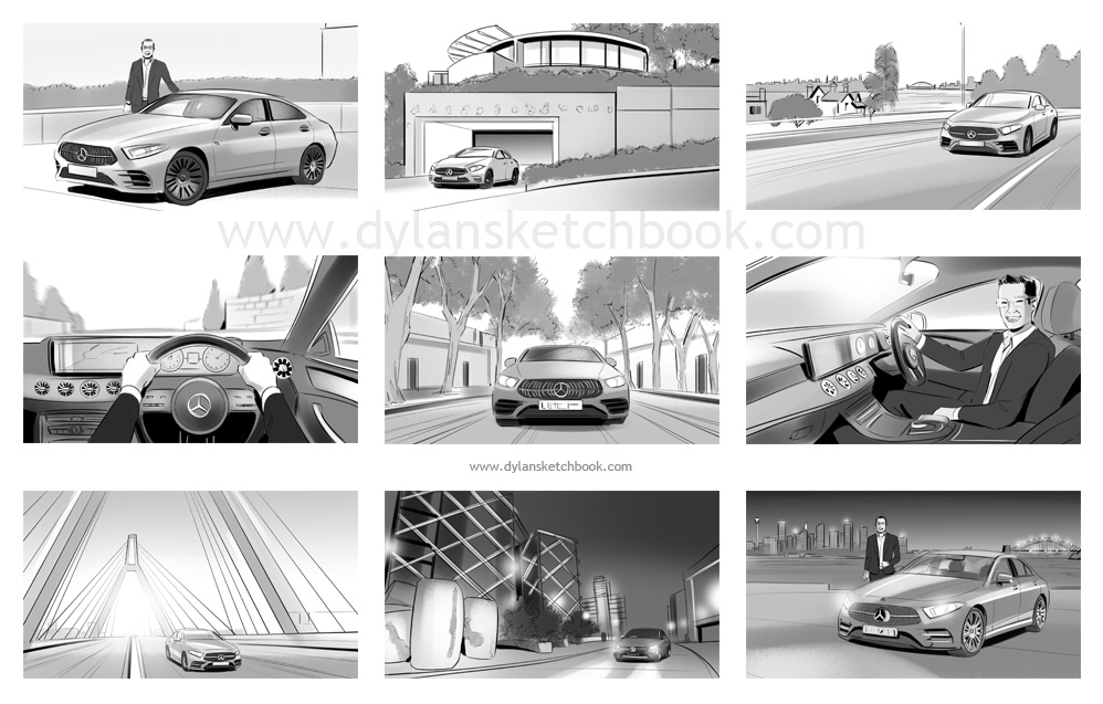 Mercedes Advertising Storyboards