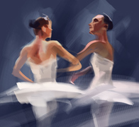 Ballet Dancer - Digital Painting