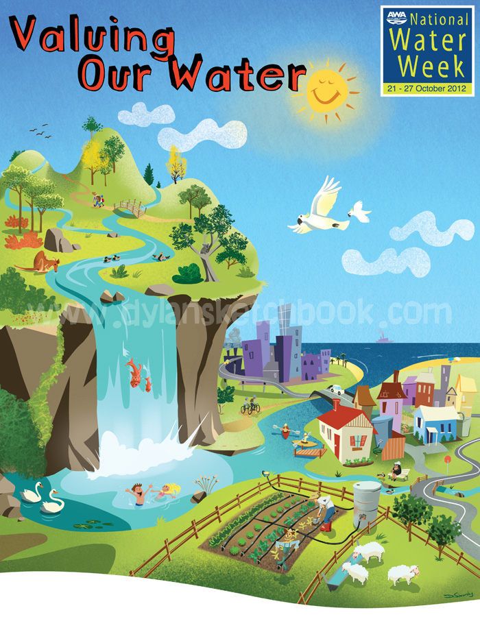 National Water Week poster illustration